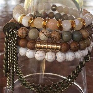 Jewelry - 💛Custom Beaded Bracelet Set Of 4💛